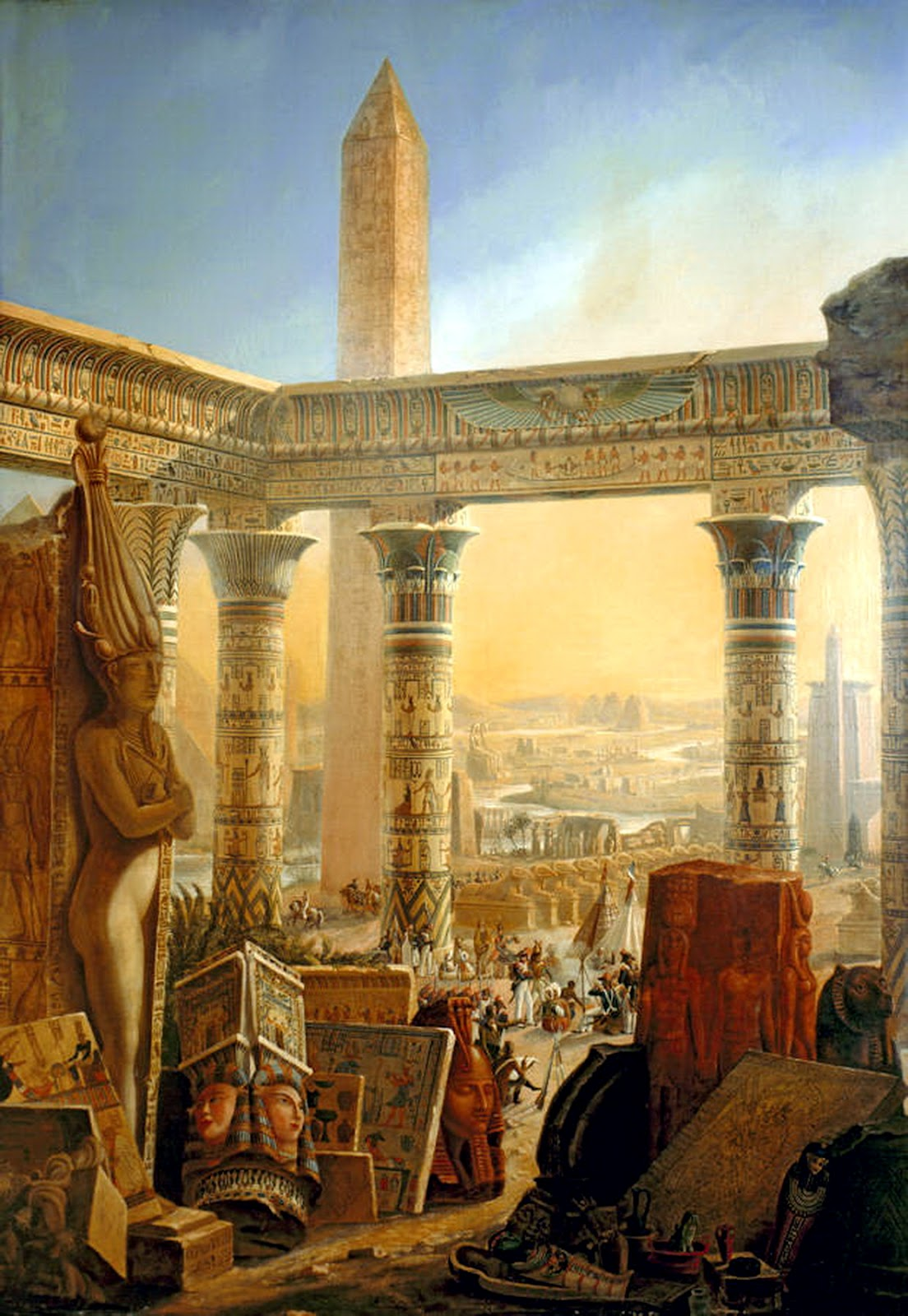 egypt old cairo paintings charles louis fleury. Black Bedroom Furniture Sets. Home Design Ideas