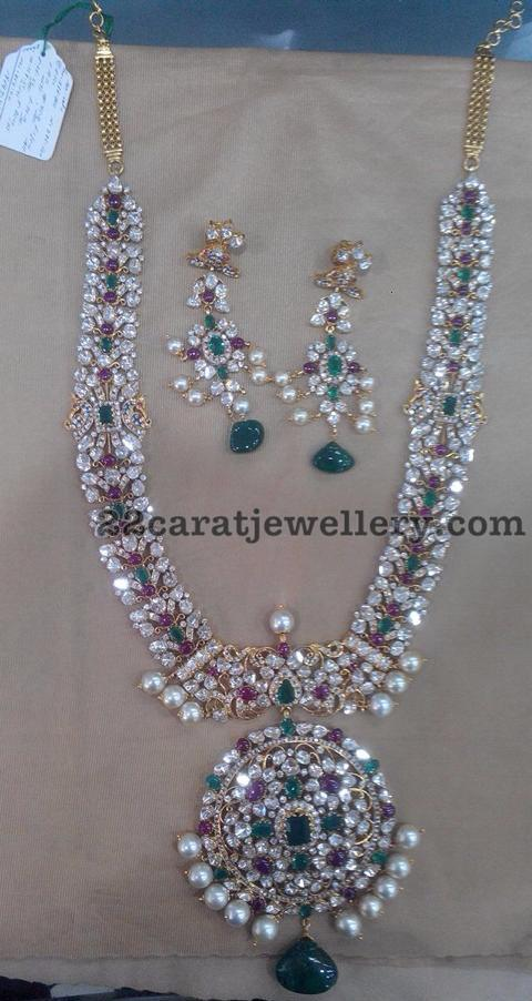 Moissanite and Gemstones Long Set
