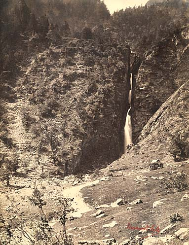 Cascade d'Enfer between Castillon-de-Larboust and Cazeaux-de-Larboust, Haute-Garonne, Pyrenees, France, c. 1858