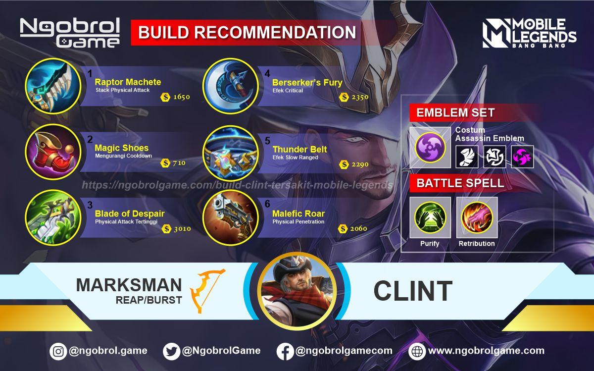Build Clint  Savage Mobile Legends
