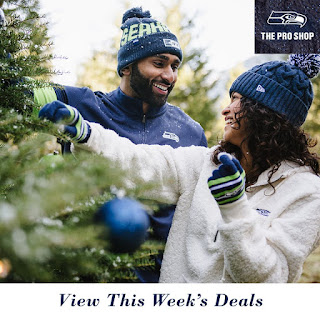 Seattle Artists Agency Clients in the Seahawks Proshop Holiday Catalog