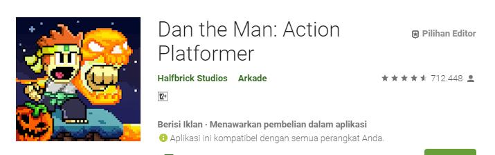 Game Platformer Terbaik untuk Android Dan the Man