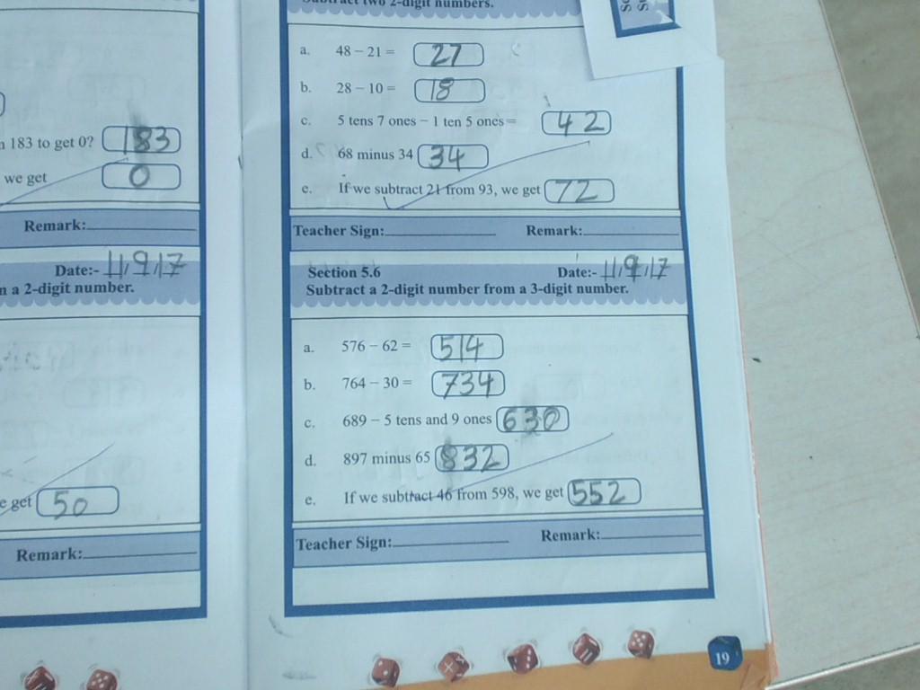 Maths mental math pg no17 to 21, w B pg no 12,13 | Standard 2