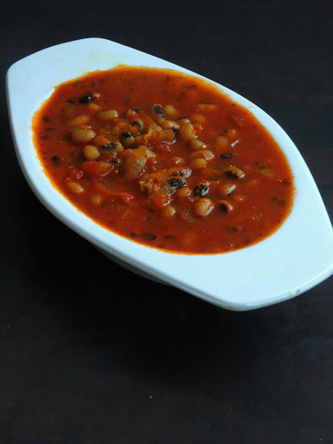 Black-eyed peas Tomato Stew, Tomato Stew with black eyed peas