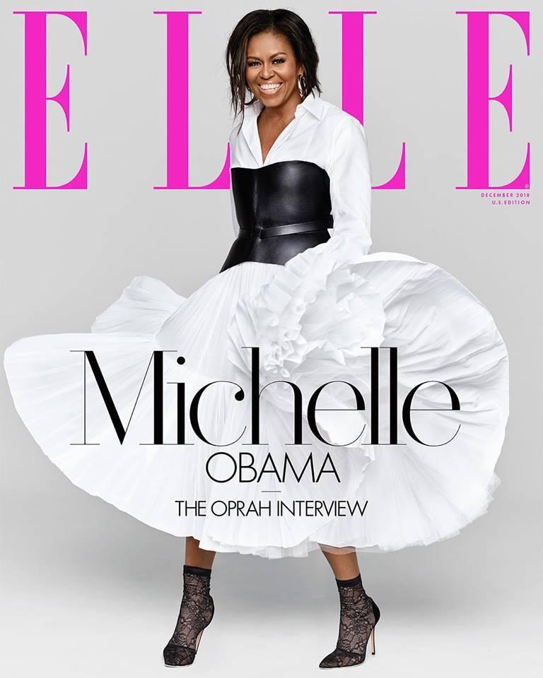 Michelle Obama covers Elle US December 2018