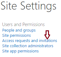 Access requests and Invitations link missing in SharePoint 2013 and SharePoint Online