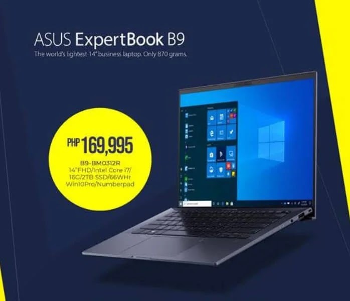 ASUS Philippines Brings to Local Shores the ExpertBook B9 Business Laptop; Yours Starting at Php109,995