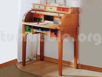 mueble buró escritorio hecho en madera maciza 1228