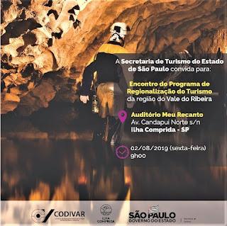 Encontro do Programa Regionalização do Turismo será na sexta 02/08, na Ilha Comprida