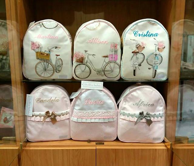 mochilas infantiles bordadas nombre