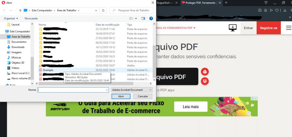 Como colocar senha em arquivos PDF sem programas