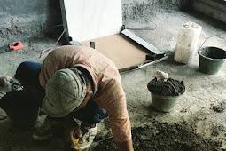 Begini Proses Dari Tahap Awal Memasang Keramik lantai Dengan Adukan