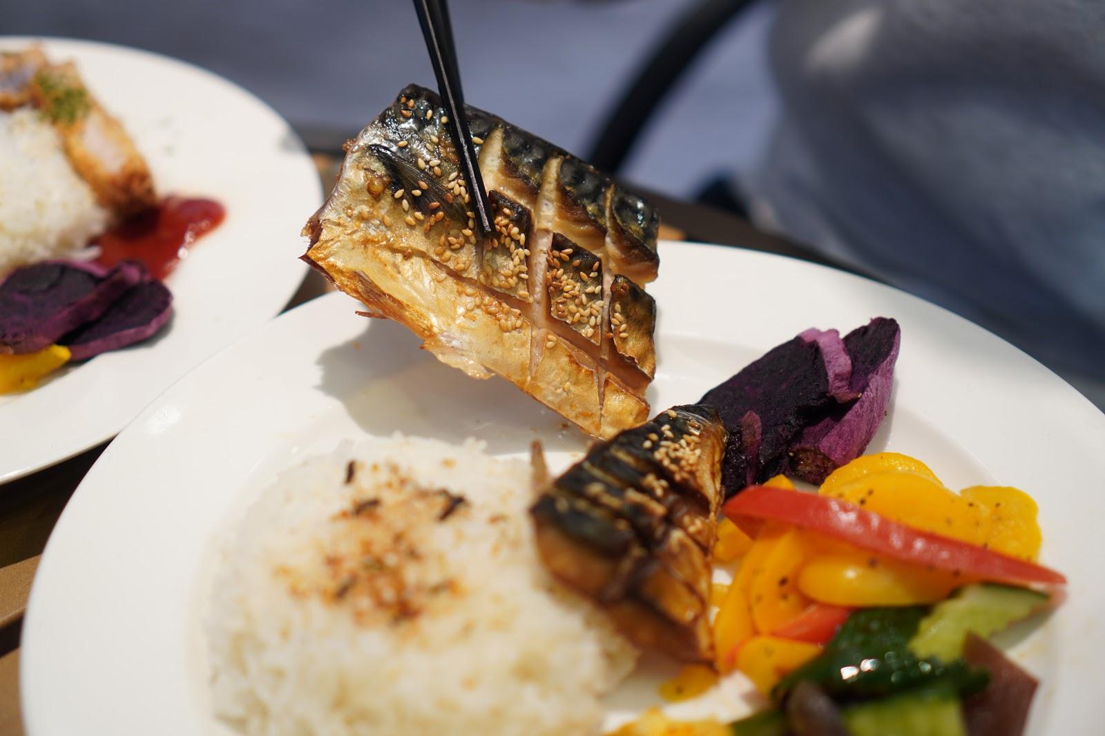 台南美食【咚嗞咖啡】餐點-薄鹽鯖魚飯