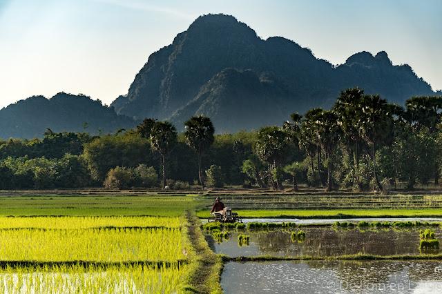 Vers Grotte de Ya-Thay-Pyan - Région de Hpa An - Myanmar Birmanie