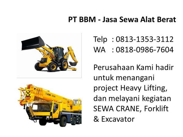 rental excavator pc 50 bandung dan jakarta
