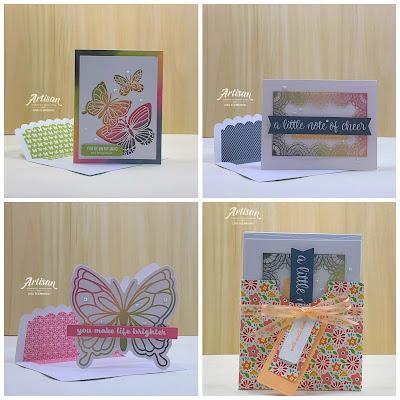 Make It Monday - Stampin' Up! Notes of Cheer Card Kit And  A Coordinating Card Box