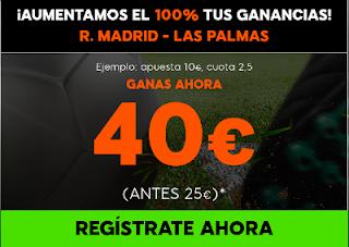 888sport aumento 100% beneficios Real Madrid vs Las Palmas