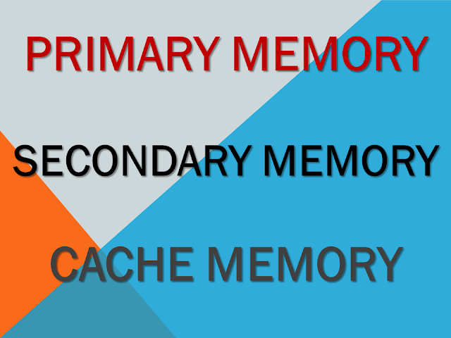 what is primary memory, secondary memory, cache memory ( primary, secondary aur cache memory kya hoti hai)