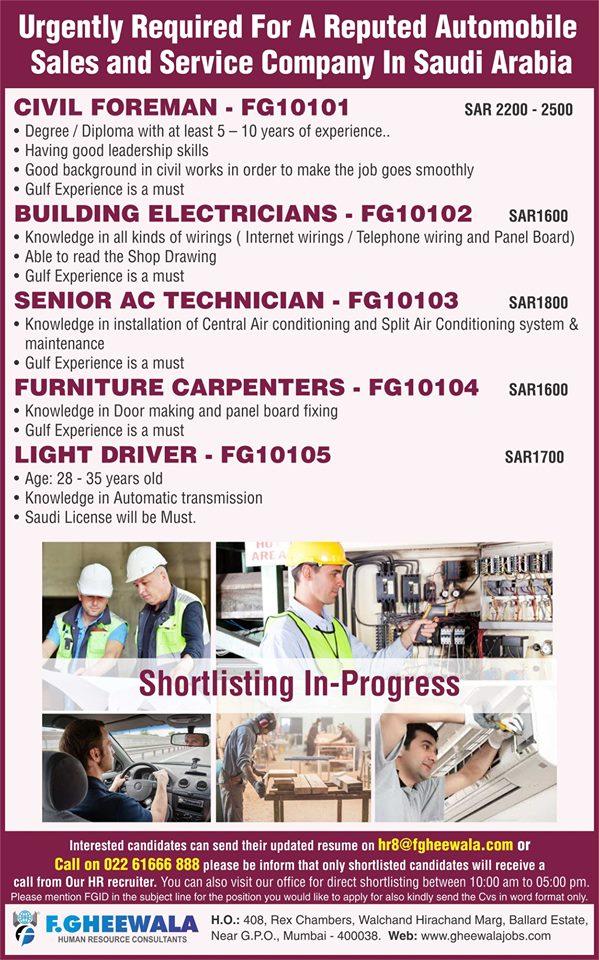 Automobile Sales and Service Company in Saudi Arabia