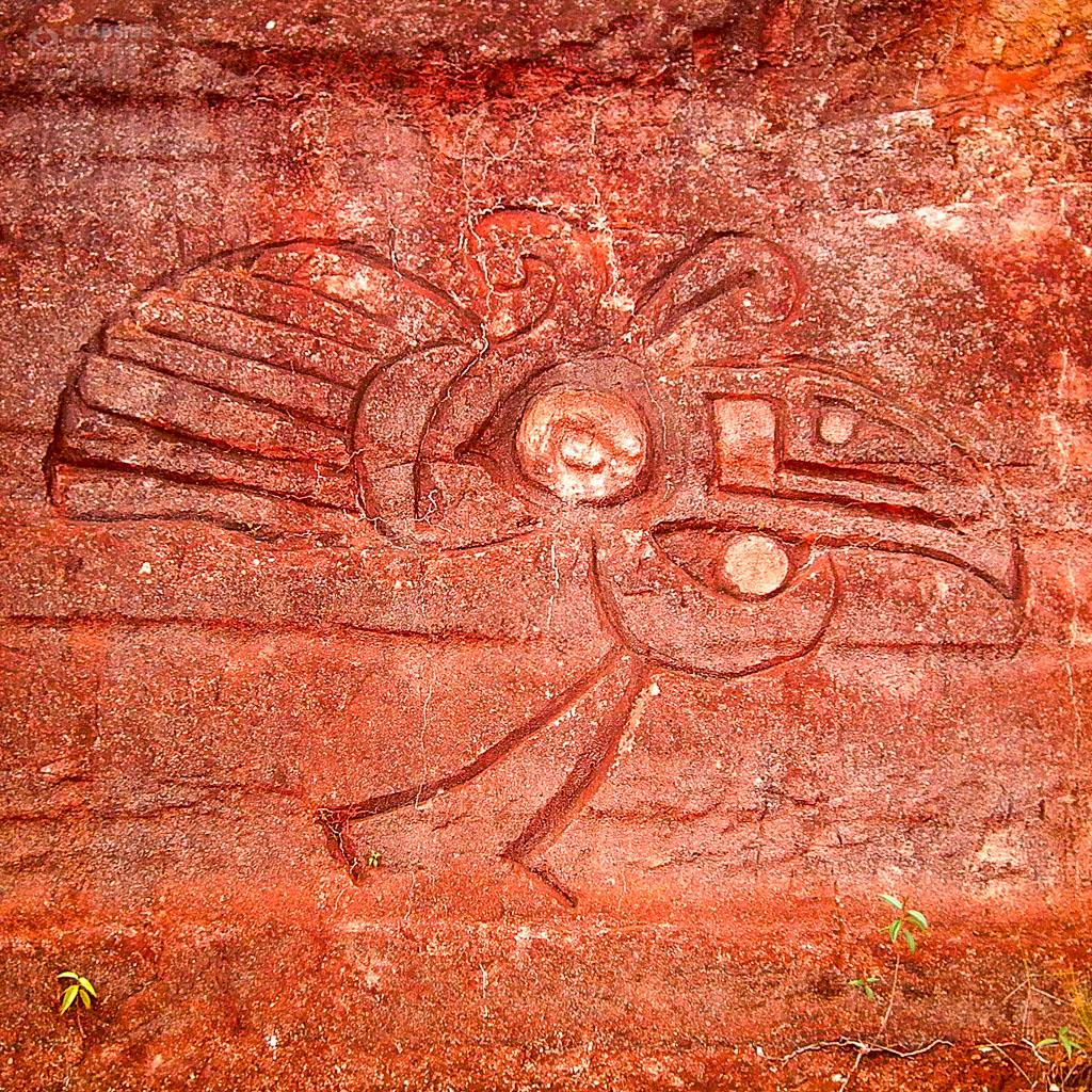 Petroglyph near El Paují in southern Venezuela