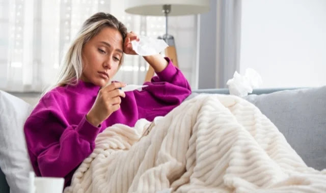 High temperature during the menstrual cycle