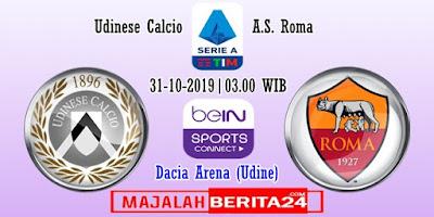 Prediksi Udinese vs AS Roma — 31 Oktober 2019