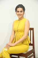 Taapsee Pannu looks mesmerizing in Yellow for her Telugu Movie Anando hma motion poster launch ~  Exclusive 038.JPG