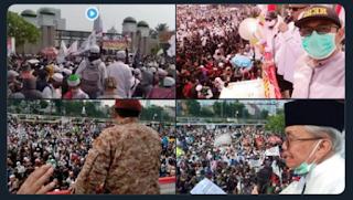 """Merinding ! Ribuan Massa Serentak Teriakan """"Ganyang PKI"""" Saat Aksi Tolak RUU HIP di DPR"""