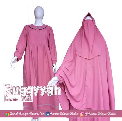 Gamis Wolfis Syar'i Ruqayyah Pink
