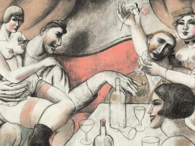 "Ilustração de Pablo Pablo Auladell para ""La leyenda del Santo Bebedor"" (2014)"