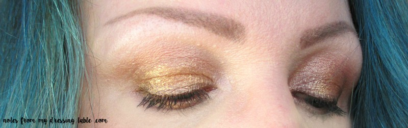 Metallic Eyes With Too Faced Stardust Palette notesfrommydressingtable.com