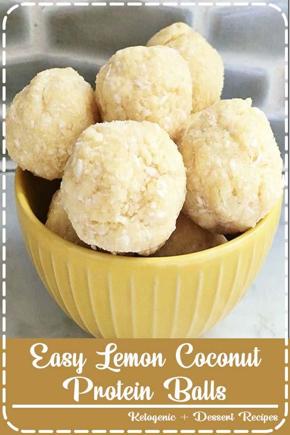 Easy Lemon Coconut Protein Balls