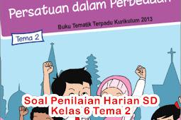 Soal Penilaian Harian SD Kelas 6 Tema 2