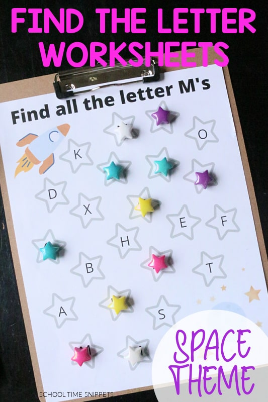 find the letter worksheets