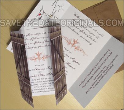 Save The Date Originals Trifold Wedding Invitation