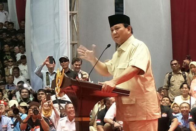 Kelakar Prabowo soal Bersatunya Keturunan Soeharto dan Soekarno di Koalisinya