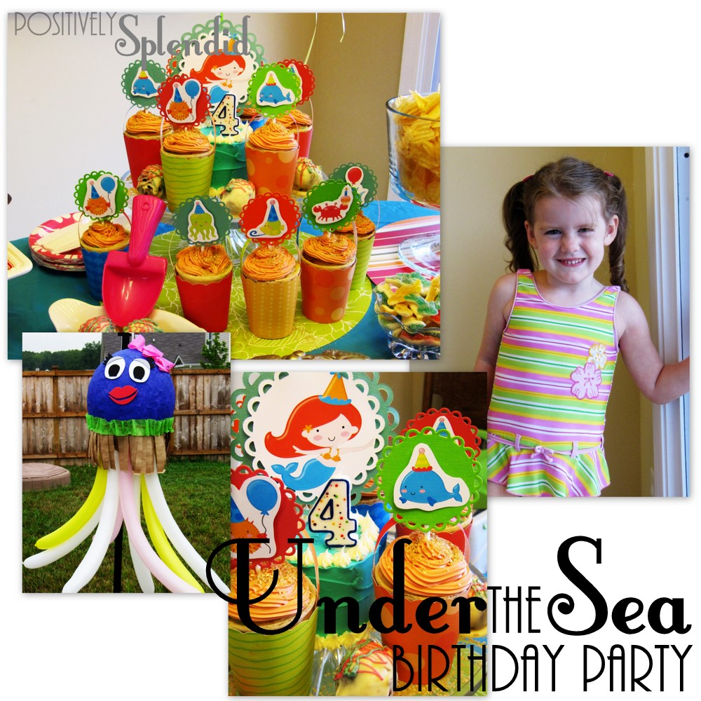 under the sea birthday party positively splendid crafts sewing