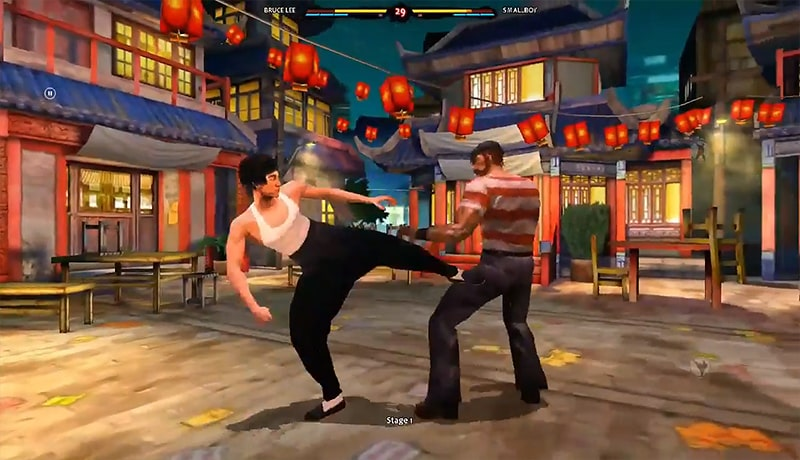 تحميل لعبة فنون القتال Bruce Lee Dragon Warrior apk + data للاندرويد