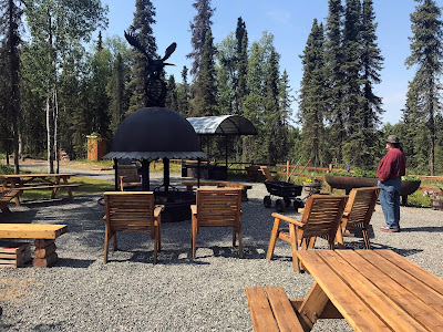 Barbeque Area at the Lone Moose RV Park