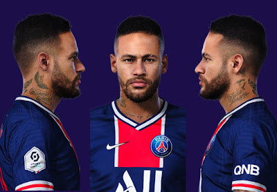 PES 2021 Faces Neymar Jr by Valentinlgs10