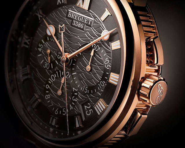 Breguet Marine Alarm Musicale 5547 in rose gold and slate grey dial