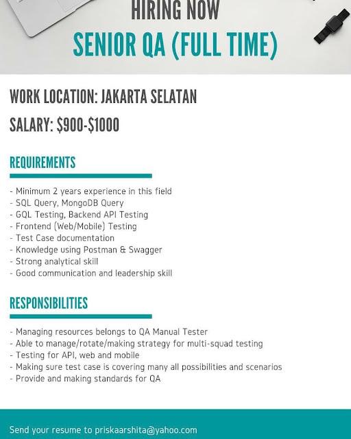 Lowongan Kerja Senior Developer