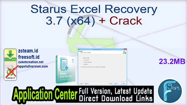 Starus Excel Recovery 3.7 (x64) + Crack_ ZcTeam.id