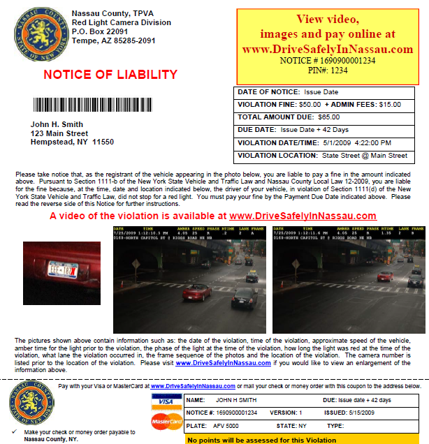 Www.Drivesafelyinnassau.com : View Your Red Light
