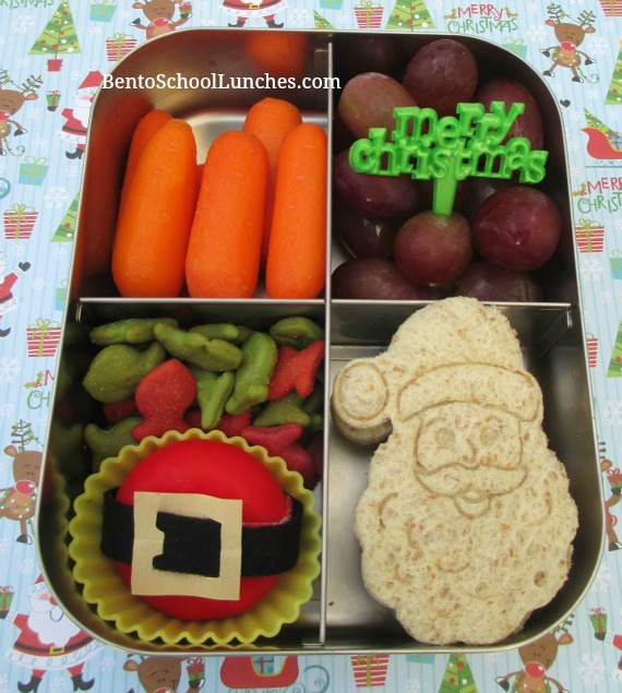 Santa Claus Santa Belt Christmas bento lunch
