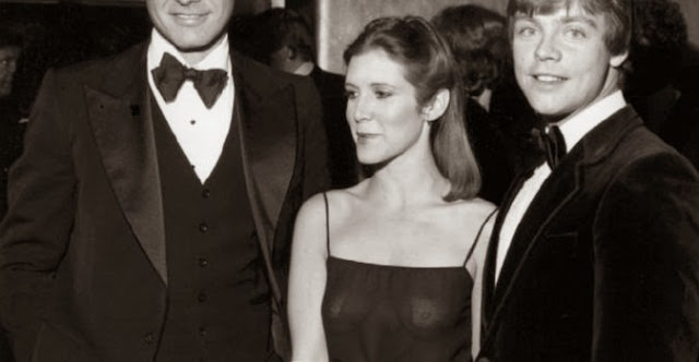 carrie fisher see through dress nipples