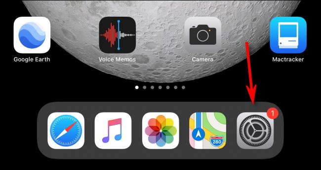 قم بتشغيل تطبيق الإعدادات على جهاز iPad