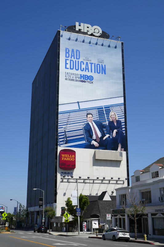 Giant Bad Education HBO movie billboard