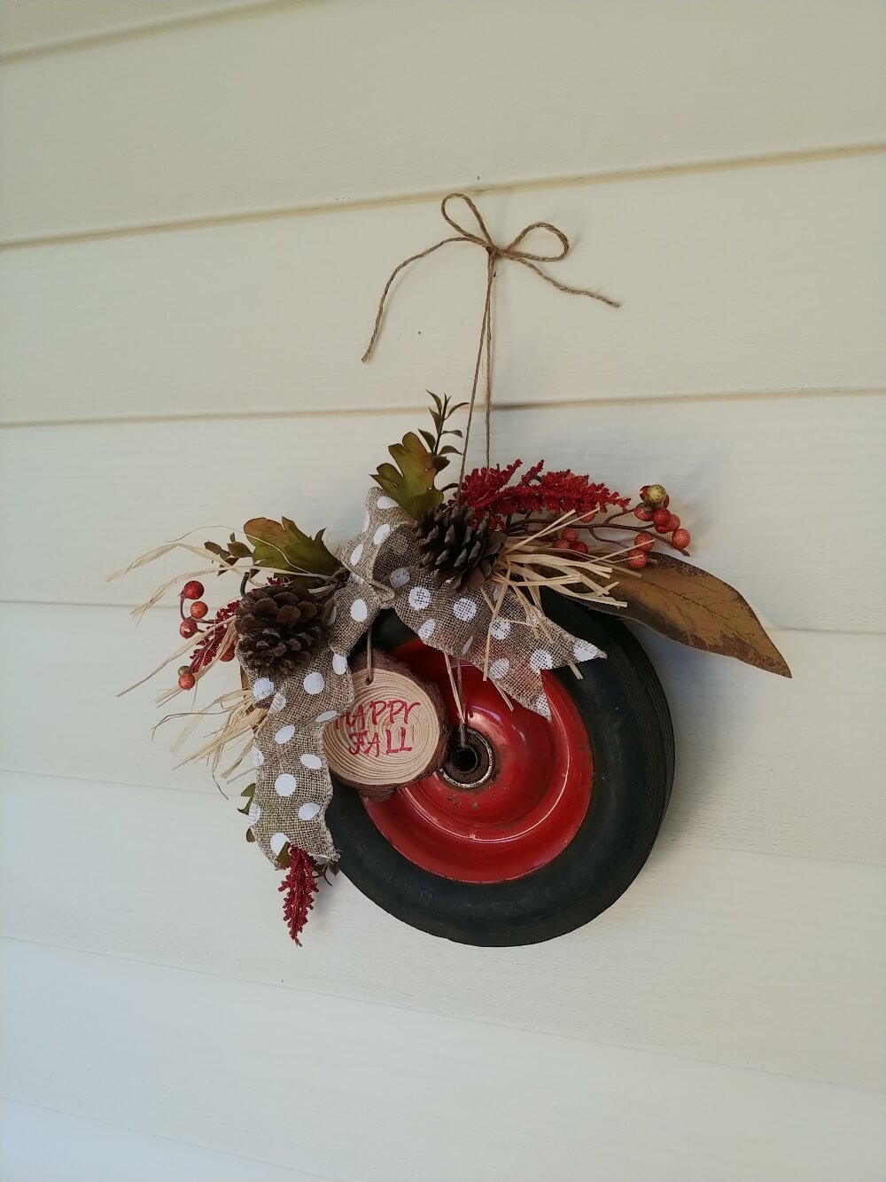 Junk Wheel Wreath