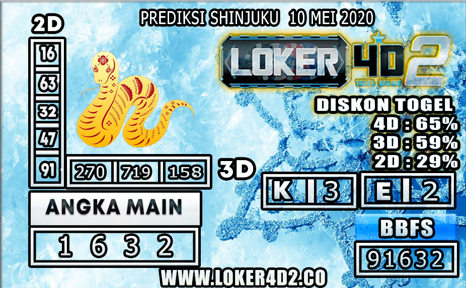 PREDIKSI TOGEL SHINJUKU LUCKY 7 LOKER4D2 10 MEI 2020